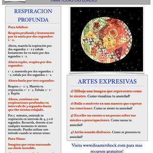 Deep Breathingi & Expressive Arts Tip Sheet Spanish
