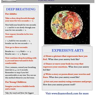Deep Breathing & Expressive Arts Tip Sheet English