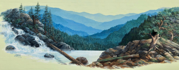 The Gateway Mural; Grants Pass, OR; Artist: Bob Eding