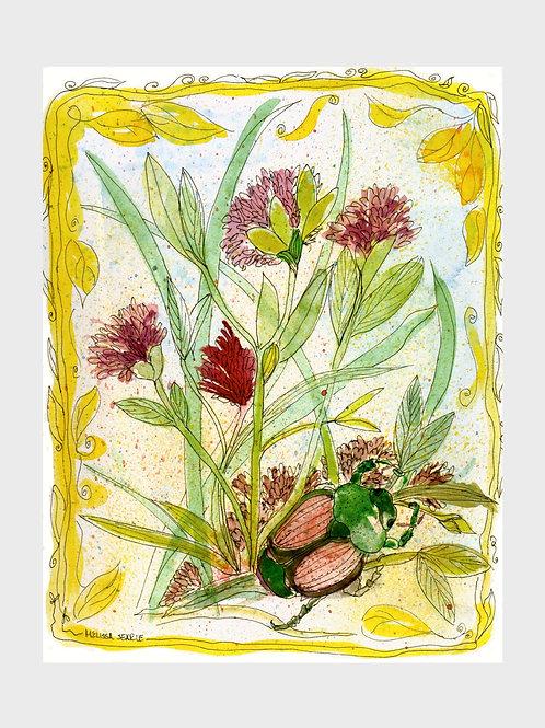 Japanese Beetle • Watercolor Print