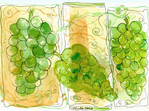 Green Grapes • Watercolor Print