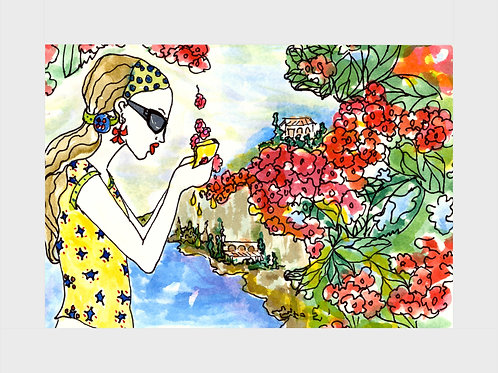 French Riviera • Watercolor Print
