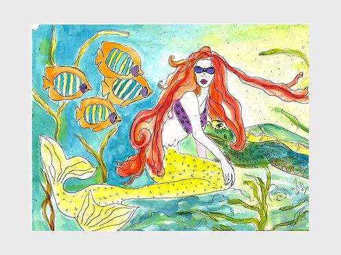 Siren's Song • Watercolor Print