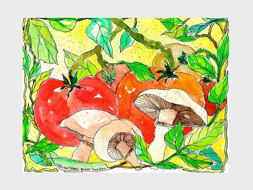 Garden Bounty • Watercolor Print