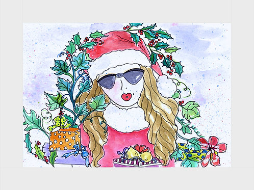 Holly & Ivy • Watercolor Print