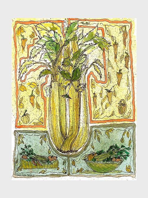 Celery Soup • Watercolor Print