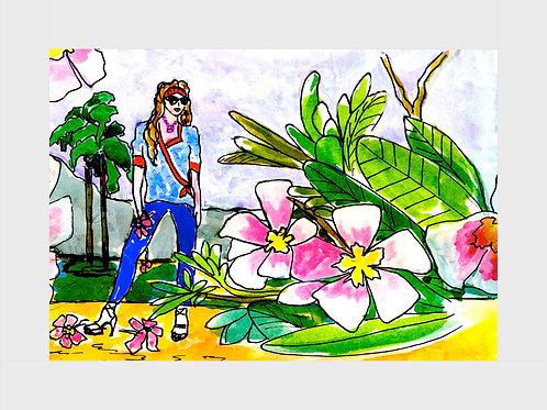 Plumeria Perfection • Watercolor Print