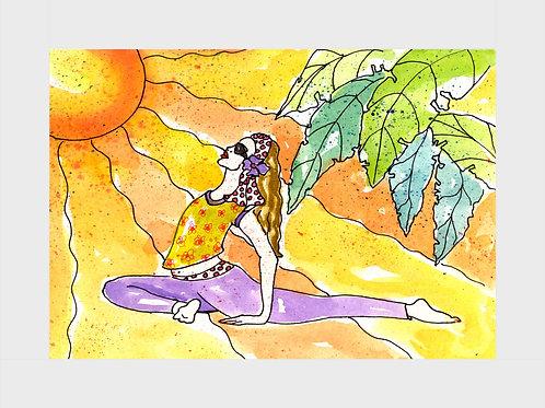 Sun Salute • Watercolor Print