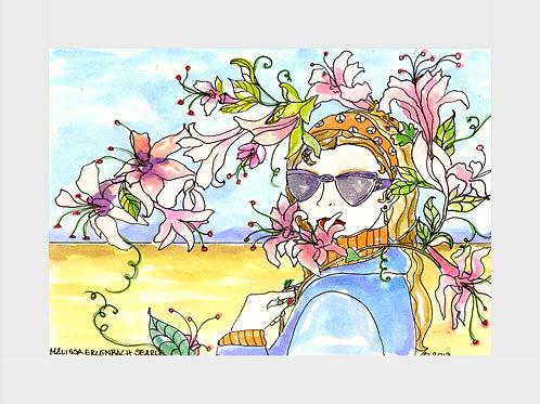 Honeysuckle Morning • Watercolor Print