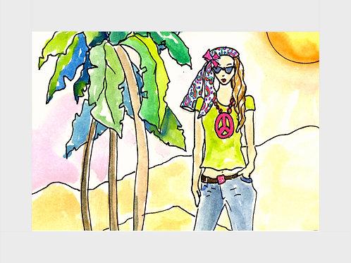 Peace Patchouli • Watercolor Print