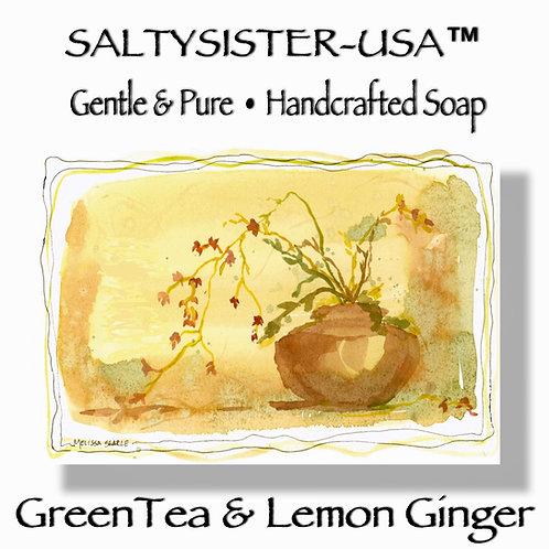 GREEN TEA & LEMON GINGER • SOAP & BODY BUTTER