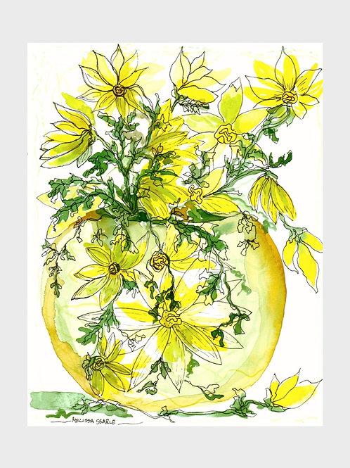 Yellow Daisies • Watercolor Print