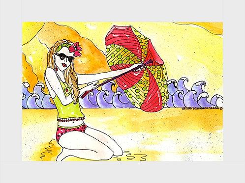 Coconut Beach • Watercolor Print