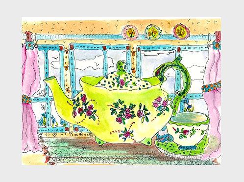 Old Vintage Rose • Watercolor Print