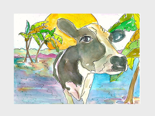 Daisy in Paradise • Watercolor Print