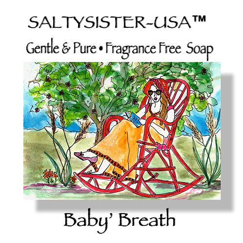 BABY'S BREATH • FRAGRANCE FREE SOAP • BODY BUTTER • SHEER BODY OIL