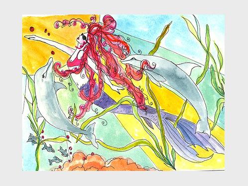 Bubble & Squeak & Olivia • Watercolor Print