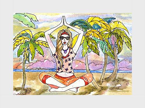 Twilight Meditation • Watercolor Print