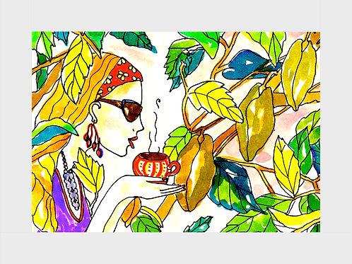 Sweet Vanilla Chai • Watercolor Print