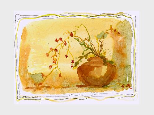 Bittersweet Ginger Jar • Watercolor Print
