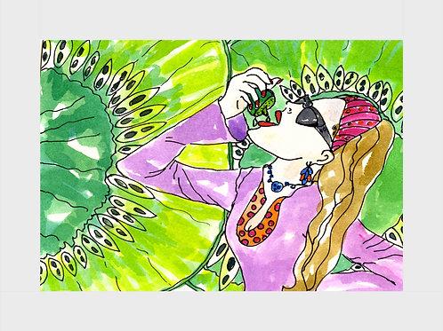Kiwi Nectar • Watercolor Print
