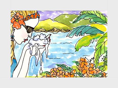 Sweet Water Vanilla • Watercolor Print