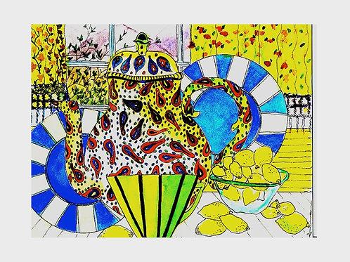 Pekoe & Paisley • Watercolor Print