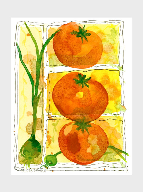 Tomato Trio • Watercolor Print
