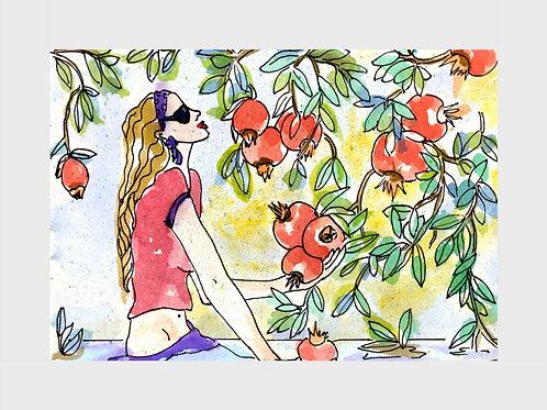 Pomegranate Passion • Watercolor Print