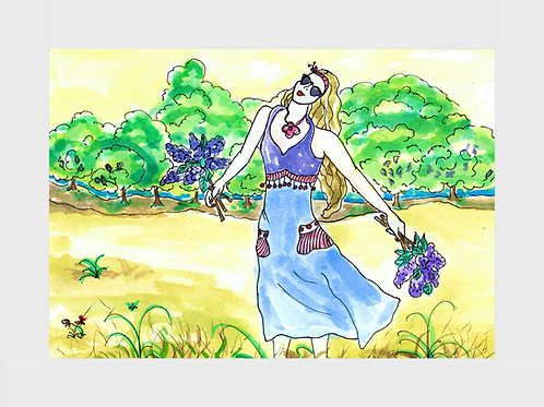 Flower Fairy • Watercolor Print