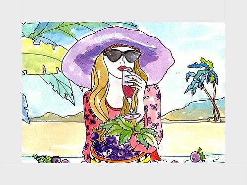 Fresh Berry Champagne • Watercolor Print