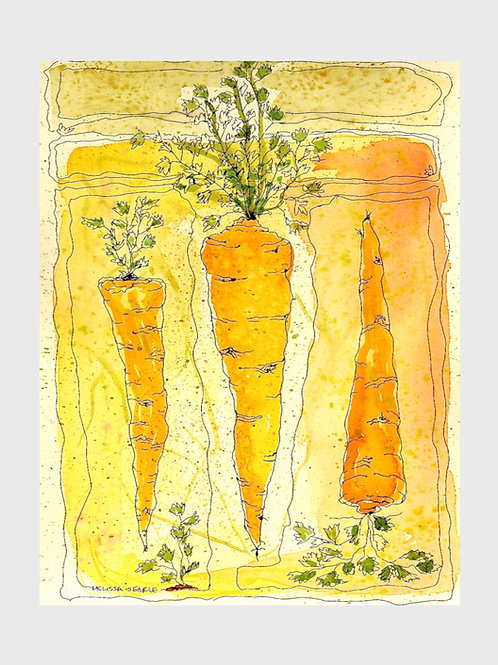 Carrots • Watercolor Print