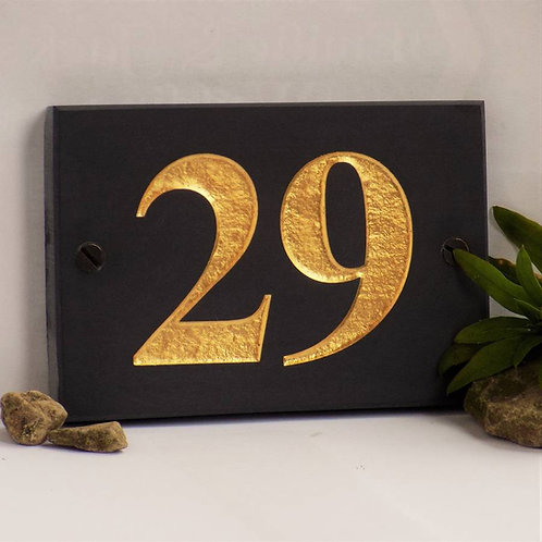 gold leaf number plate