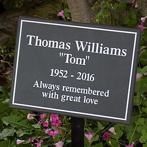 slate memorial plaque