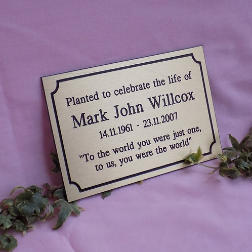 Brass Plaque from £66.00