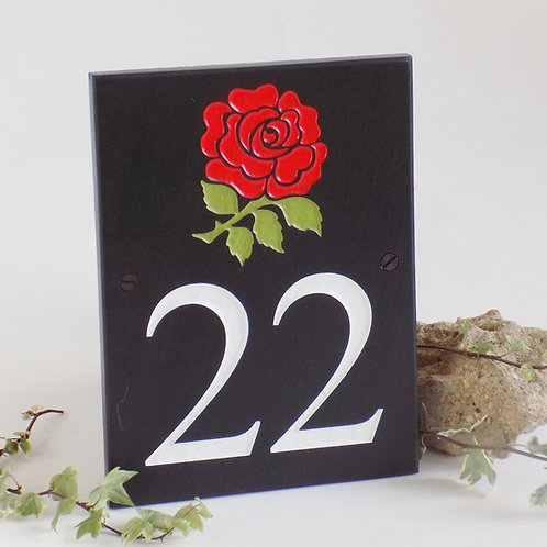 Slate Numbers with National Emblem £54.00