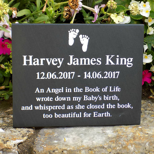 Slate Infant Loss Plaque