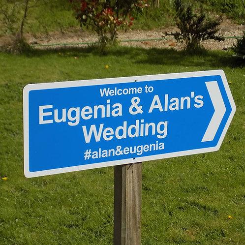social media wedding signs