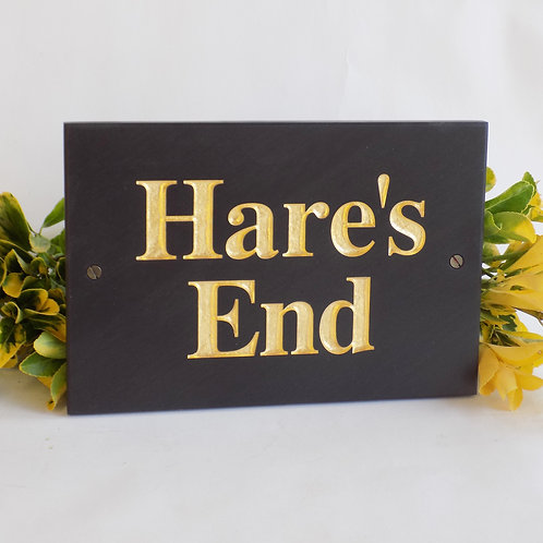 gold leaf slate house signs