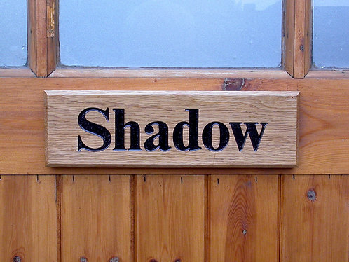Wooden Stable Door Nameplates