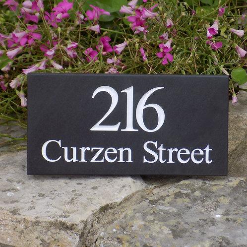 slate house sign
