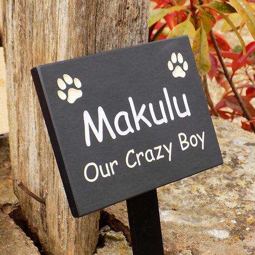 Small Personalised Pet Memorial Plaque