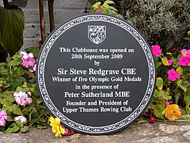 commemorative opening plaque