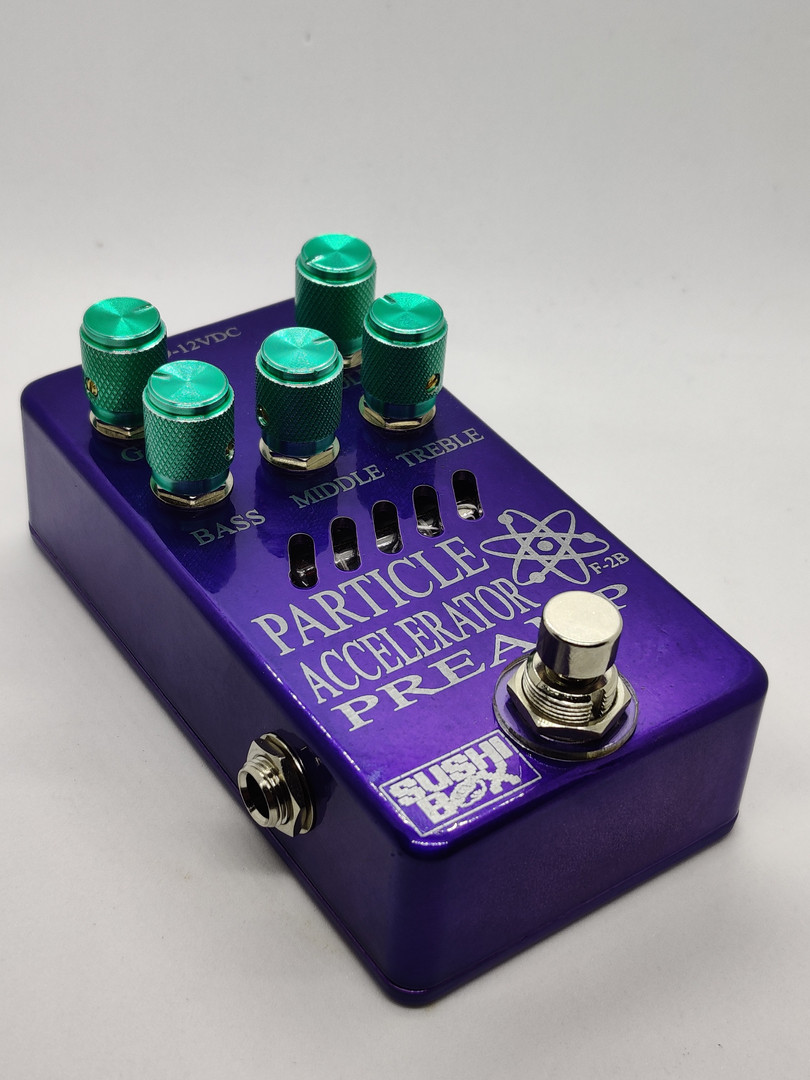 Purple Enclosure with Green Knobs