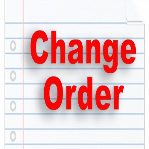 Existing Order Change
