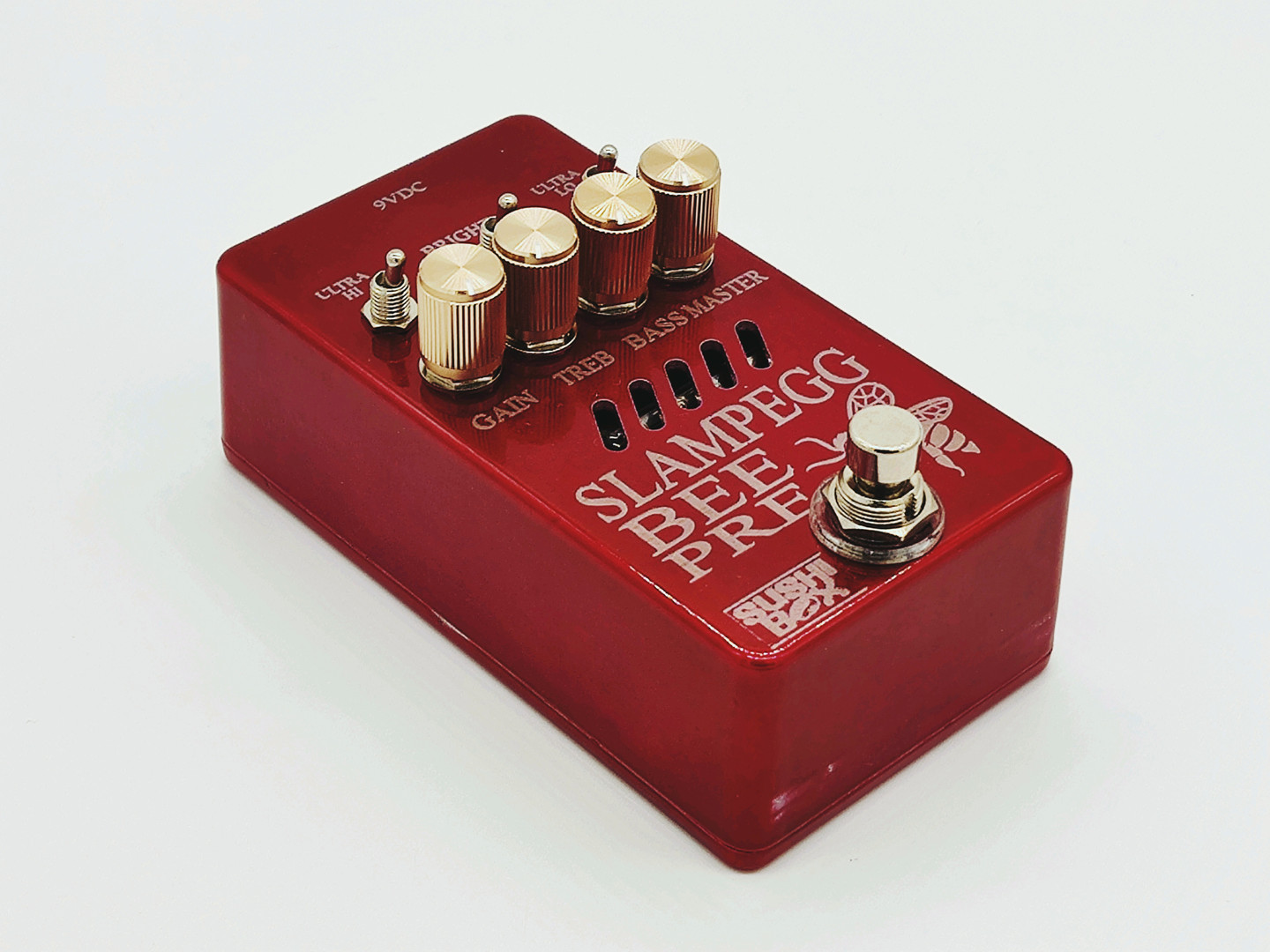 Candy Red Enclosure with Gold Knobs.jpg