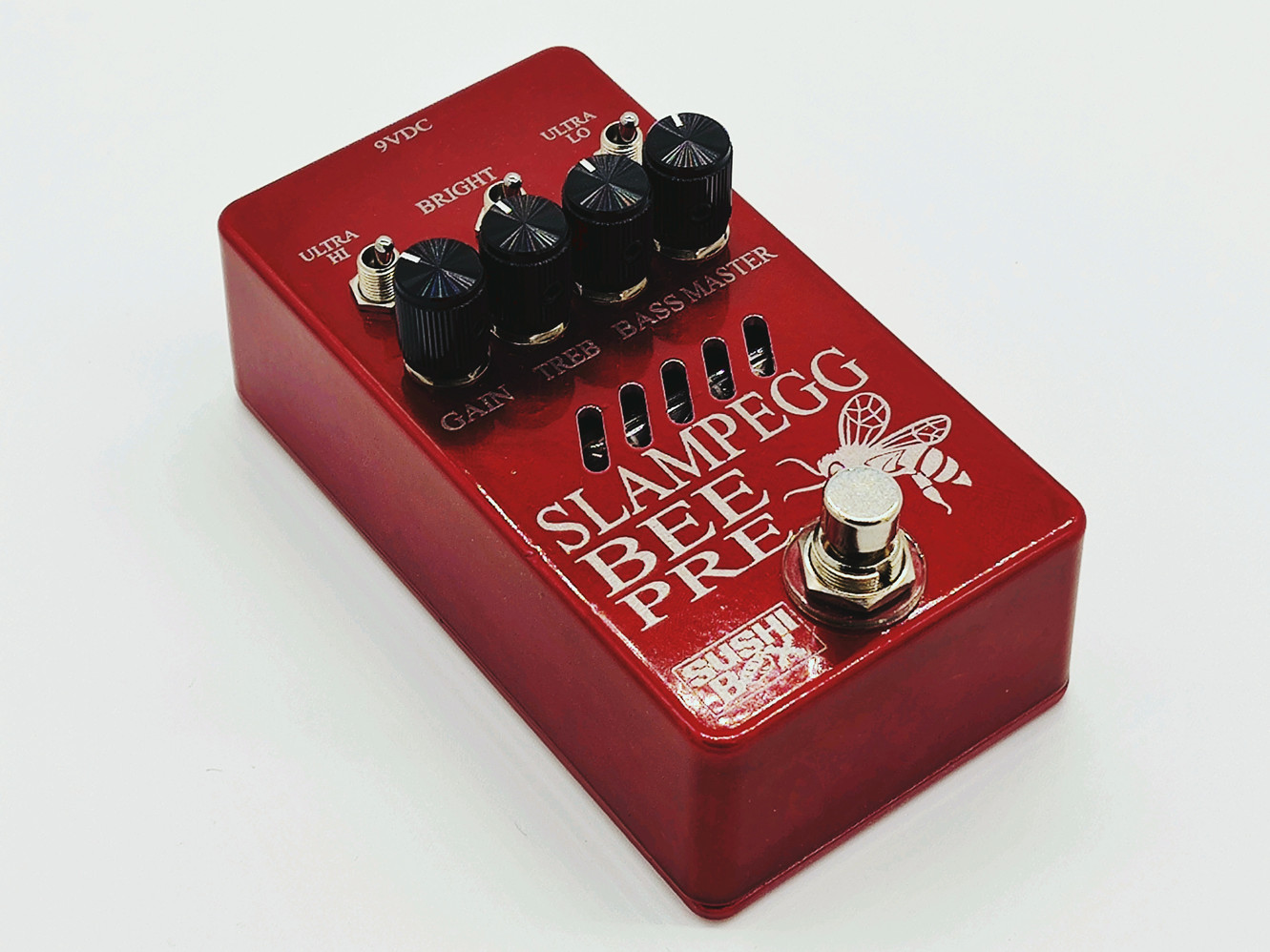Candy Red Enclosure with Black Knobs