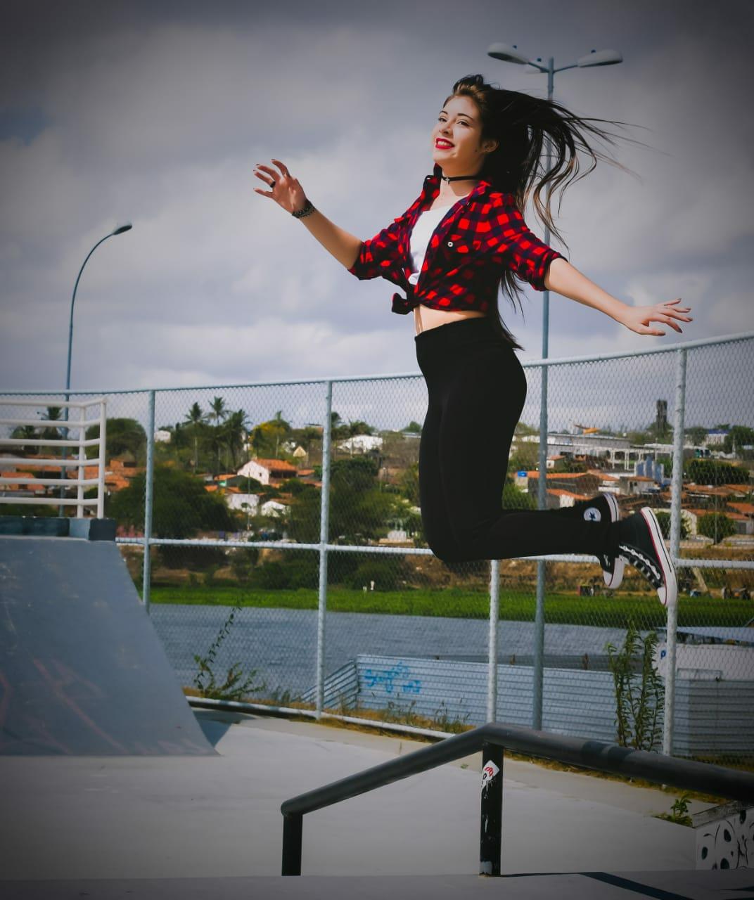 """""""All Star é confortável e durável, por isso é possível dar altos pulos."""" Foto: Carolina de Lira/ Coletivo F8"""