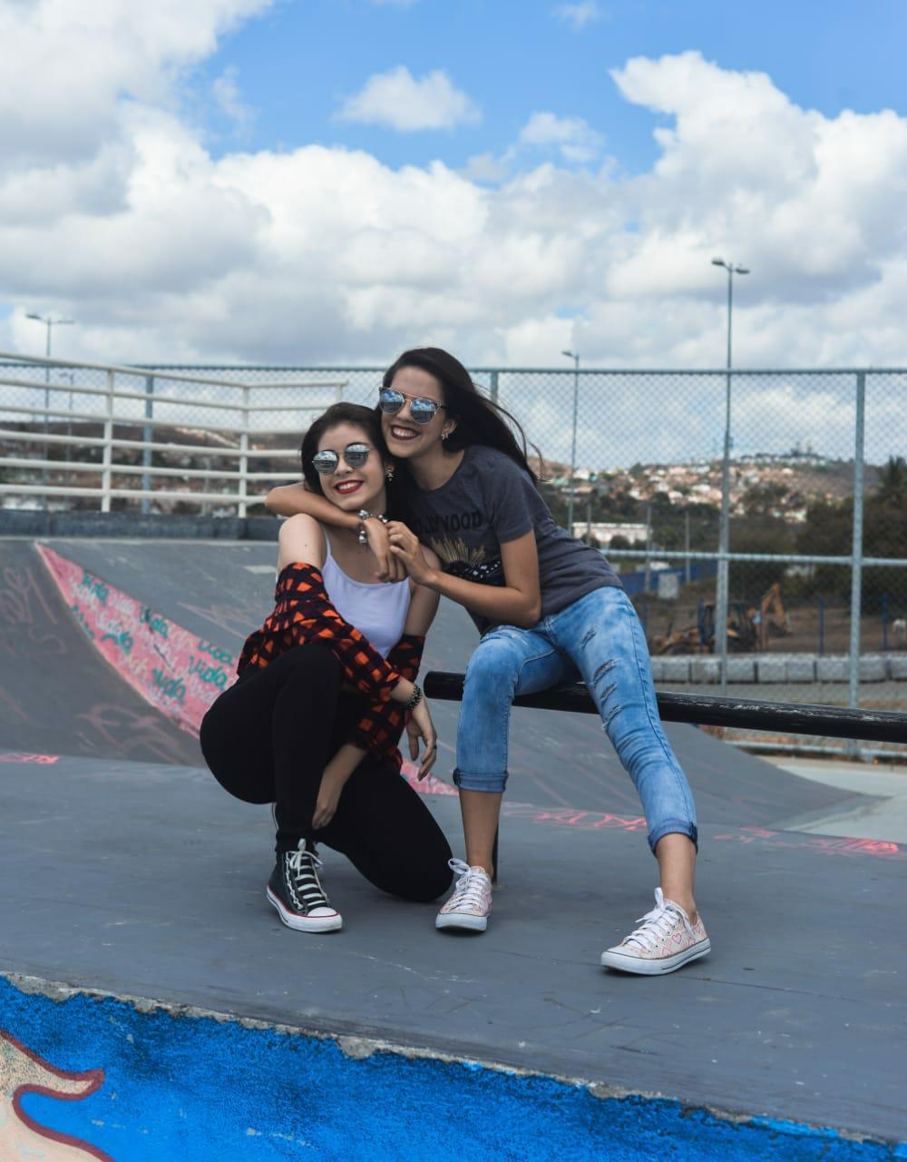 """""""Assim como o jeans, a calça legging e as blusas que as modelos estão vestindo o All Star é básico e fundamental."""" Foto: Carolina de Lira/ Coletivo F8"""