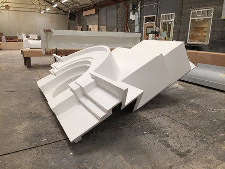 Spanish City GRP Sections in Manufacture